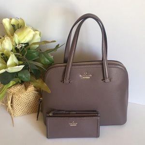 Kate spade medium satchel with matching wallet